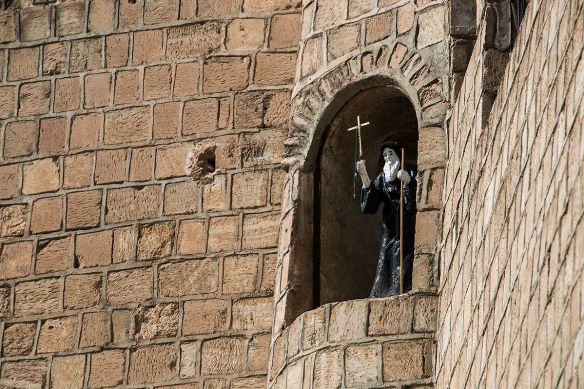 Saint Hormizd Monastery is also a resting place for some Assyrian fighters. [Layth Mushtaq/Al Jazeera]