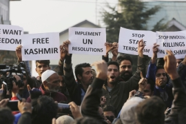 Kashmiris have stepped up their calls for independence from Indian rule as they accuse Indian forces of severe abuses [EPA]