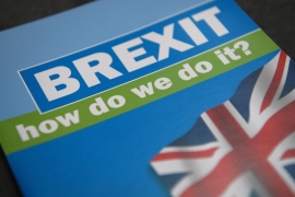 A Brexit booklet distributed during the 2016 Conservative Party Conference, at the ICC Birmingham, on October 4 [Getty Images]