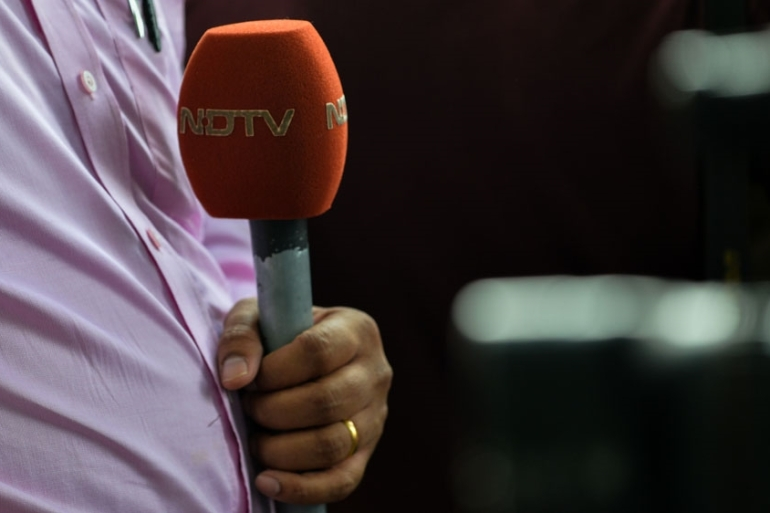 NDTV defended its coverage saying the government had wrongly singled the channel out [Chandan Khanna/AFP]