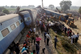 Dozens killed after train derails in southern India