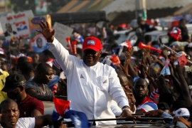 Akufo-Addo unseated Mahama in 2016 with 53.8 percent of the vote [FILE - Luc Gnago/Reuters]