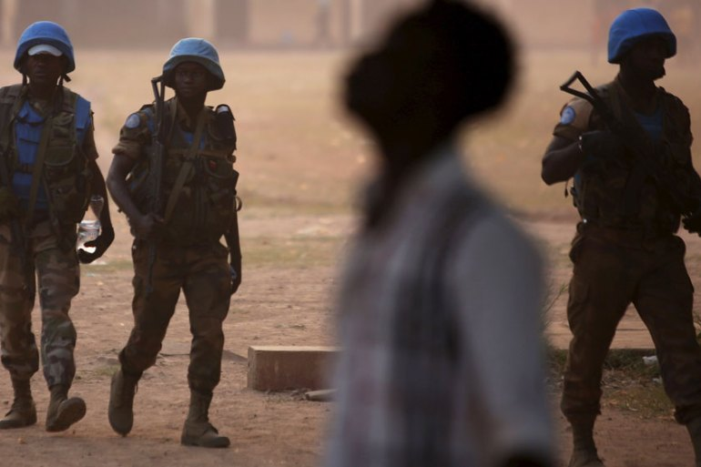 There are currently around 12,000 UN Peacekeepers in the Central African Republic [Reuters]