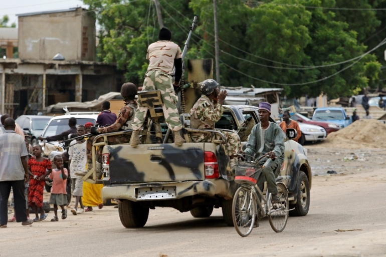 A military truck patrols Maiduguri, in Borno State, in this 2016 file photo [Afolabi Sotunde/Reuters]