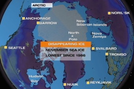 Arctic ice disappearing at an alarming rate