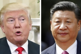 Trump widely criticised China during the US presidential election campaign [Pablo Martinez Monsivais, Luis Hidalgo/AP]