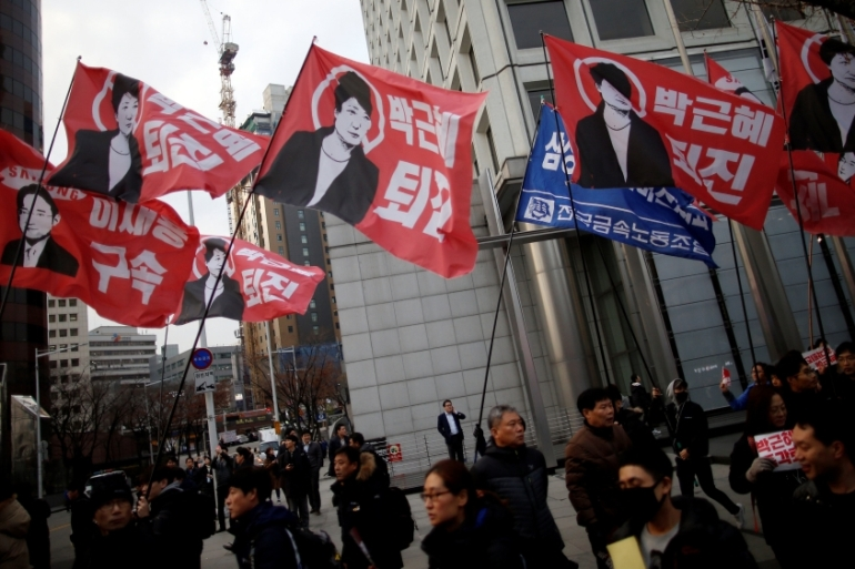 Park offered on Tuesday to leave office if parliament arranges a safe transfer of power [Reuters]