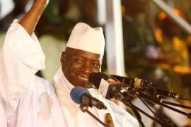 The election defeat may bring Jammeh's 22-year rule to an end [Reuters]