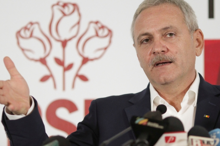 PSD leader Dragnea is currently serving a two-year suspended sentence and is barred from holding office [Reuters]