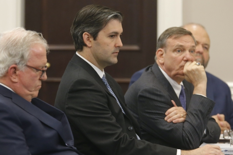 Former North Charleston police officer Michael Slager still face civil charges next year [Grace Beahm/Reuters]