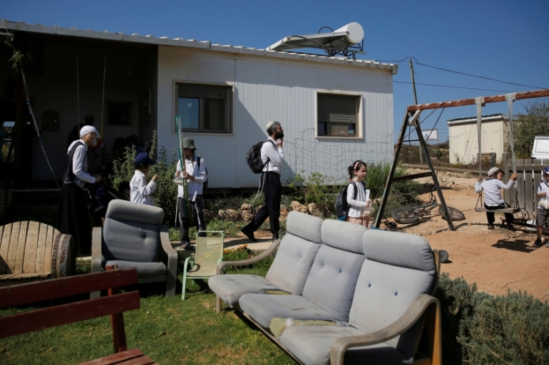 Hundreds of thousands of illegal Israeli settlers have been encroaching on Palestinian land with government support [Reuters]