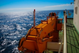 Braving 15-metre high waves on board Antarctica research vessel