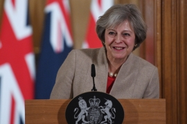 File: May is likely to give further signals that Britain is heading to what analysts call a hard Brexit [EPA]