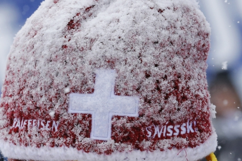 The cancellation follows concerns about a lack of snow, both at Wengen and across the European Alps in general [Denis Balibouse/Reuters]