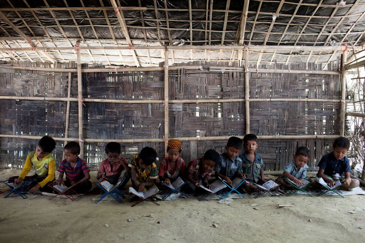Local religious schools have opened their doors to Rohingya children to continue their studies. [Mahmud Hossain Opu/Al Jazeera]