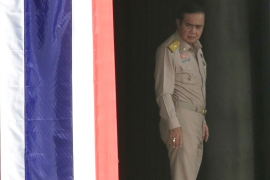 Prime Minister Prayuth Chan-ocha arrives at Government House in Bangkok in August 2016 [Sakchai Lalit/AP]