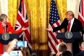 Trump hailed 'the special relationship' between Britain and the US [Kevin Lamarque/Reuters]