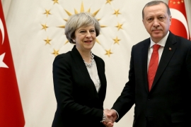 The two countries agreed to form a joint working group for post-Brexit trade [Yasin Bulbul/Presidential Palace via Reuters]