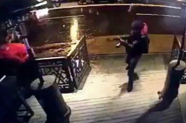 A video capture shows the gunman entering the Reina nightclub [EPA]