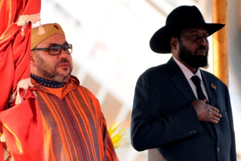 The Moroccan king has visited South Sudan on the day after Morocco's return to the African Union [Jok Solomun/Reuters]