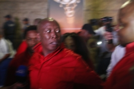 EEF leader Malema said he was removed from parliament after the fracas [AFP]