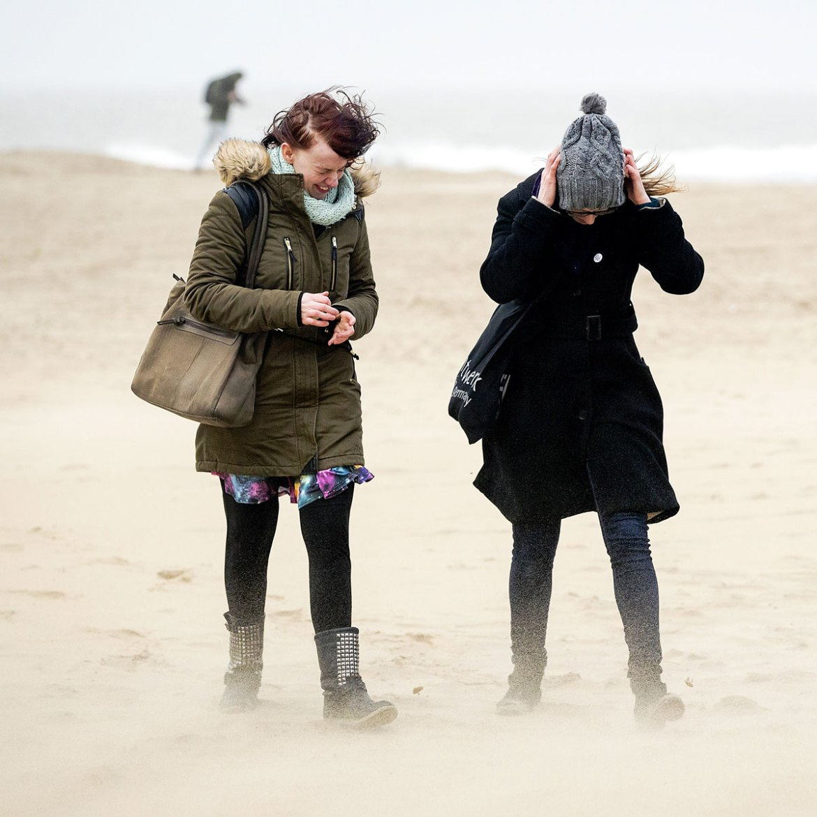 Gales scream into the Dutch resort town of Scheveningen, near the Hague. [Remko de Waal/ANP/AFP]