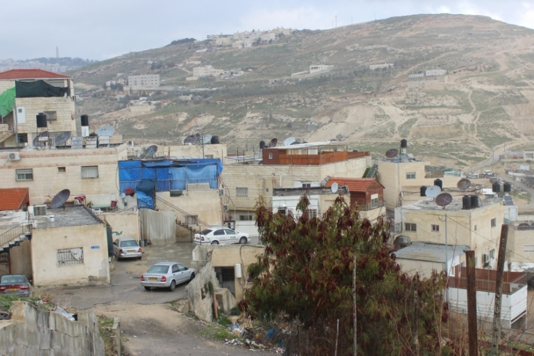 "At least 57 homes, housing 500 Palestinians, face demolition for the ""American road""  in Jabal al-Mukaber [Aseel Jundi/ Al Jazeera]"