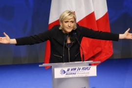 The FN says the move aims to disrupt Le Pen's presidential election campaign [AP]