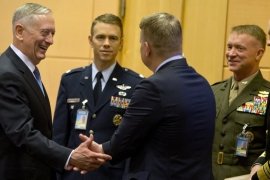US Defence Secretary Mattis told NATO its members should increase spending by the end of the year  [Virginia Mayo/EPA]