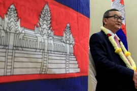 Sam Rainsy has not visited Cambodia since 2015 [Romeo Ranoco/Reuters]