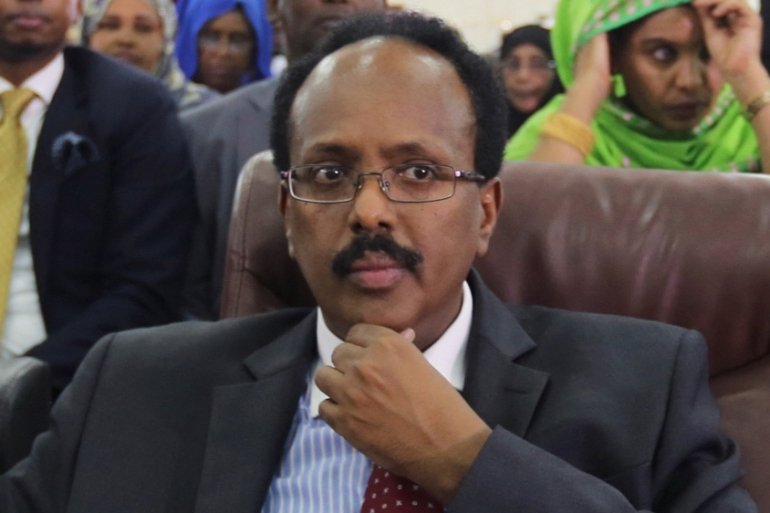 Somali presidential candidate, Minister Mohamed Abdullahi Mohamed, who is seeking a second term in office, is expected to announce another round of talks at a joint sitting of Parliament on Saturday [File: Feisal Omar/Reuters]