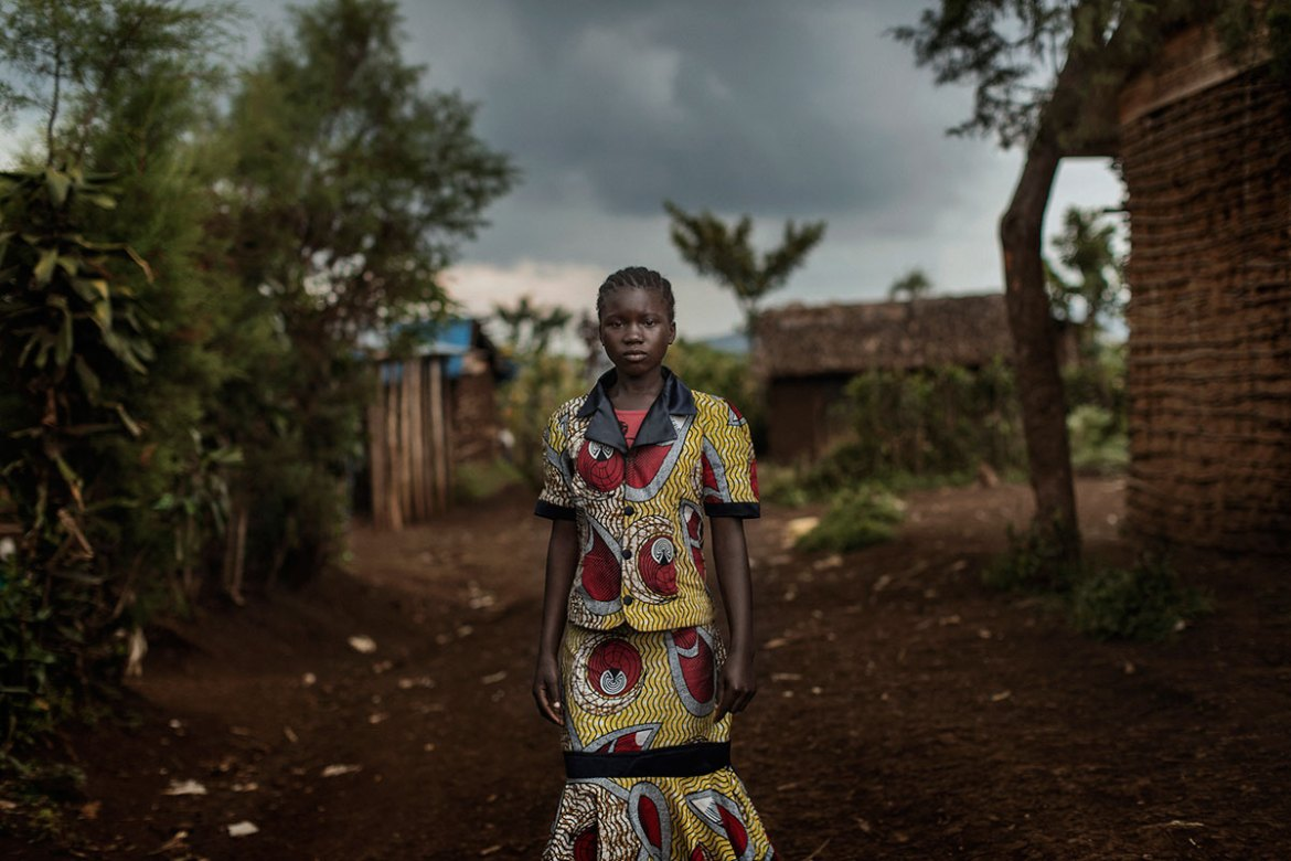 Elizabeth, 11, a rape victim in the village of Kavumo, just outside Bukavu. Panzi Hospital has provided her with medical care and psychological treatment with a view to her reintegration into society. [Marco Gualazzini/Al Jazeera]