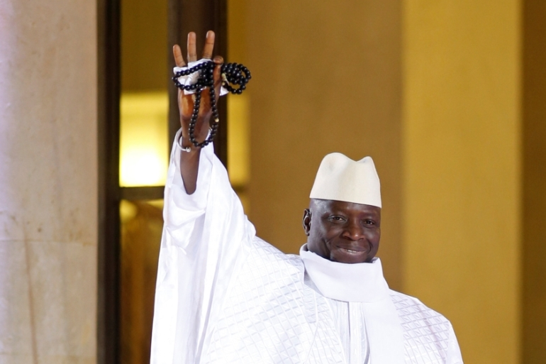 Yahya Jammeh ruled the tiny west African country for 22 years before he lost December's presidential election [Benoit Tessier/Reuters]