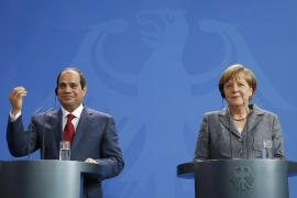 Merkel's hope is that Egypt will play a constructive role in Libya, which is currently the weakest link in the North African refugee situation, writes Benner [Fabrizio Bensch/Reuters]