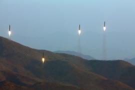 North Korea launched a flight of four ballistic missiles earlier this month [File: EPA]