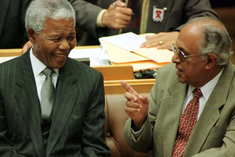 Ahmed Kathrada and Nelson Mandela enjoyed a close friendship that lasted 67 years [Reuters]