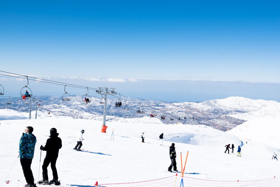 This year's skiing season has been the best in Lebanon in recent years, with numerous snowstorms. [Constance Decorde/Al Jazeera]