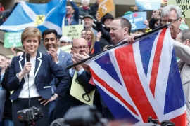 'I think an independence referendum is now highly likely,'  Scotland's First Minister Nicola Sturgeon said [Robert Perry/EPA]