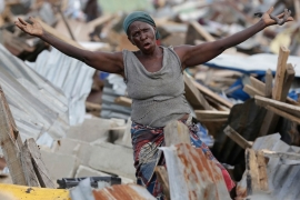 Rights groups say the demolition of the fishing community constitutes a 'violation of human rights' [Associated Press]
