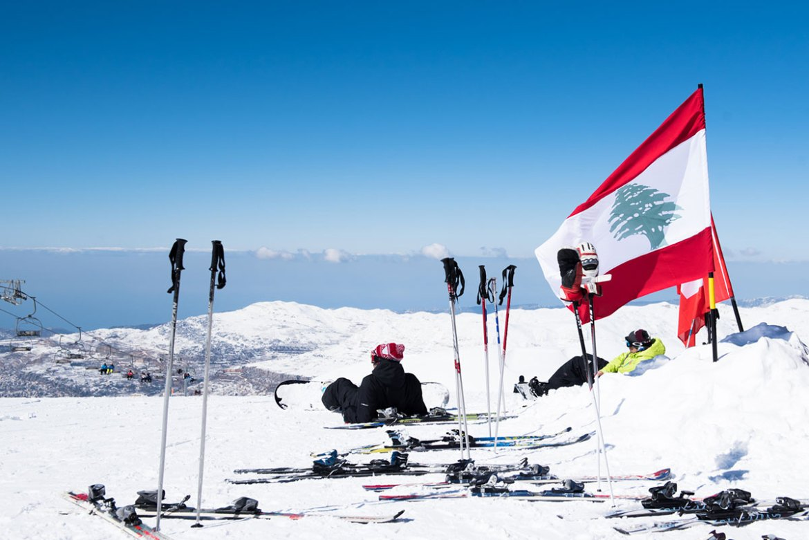 Skiers can enjoy breathtaking views over Lebanon. [Constance Decorde/Al Jazeera]