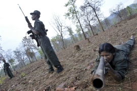 Maoist rebels in the Abujh Marh forests, in the central Indian state of Chattisgarh [AP]