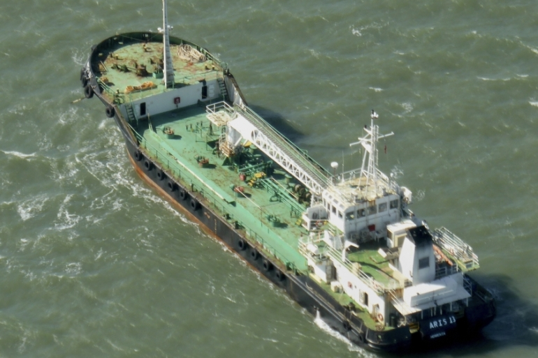 The Aris 13 oil tanker is seen in this 2014 photo [Kevin Finnigan/Tropic Maritime Images via AP]