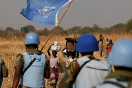 The United States provides 28 percent of the United Nations budget for peacekeeping missions [Siegfried Modola/Reuters]