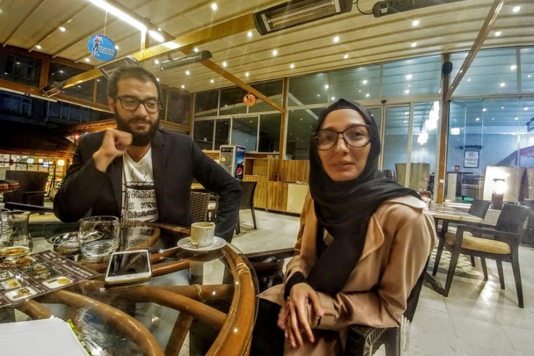 The revolution brought Lina and Youssef together but it also separated them from many loved ones [Courtesy of Lina Shamy and Youssef Moussa/Al Jazeera]