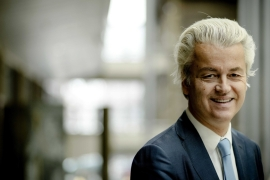 Considering his anti-Islamic, nationalistic and isolationistic agenda, Wilders can be seen as a pioneer of Trumpism write Kesteren and Mazzini [Obin van Lonkhuijsen/EPA]