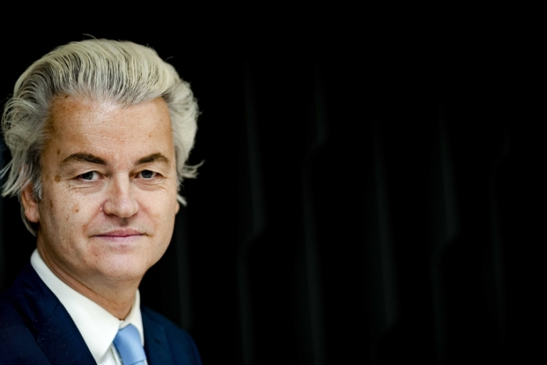 A ban on migration from Muslim countries, closing all Dutch mosques and a ban on the Quran are just some of the controversial commitments that Geert Wilders has made [Obin van Lonkhuijsen/EPA]