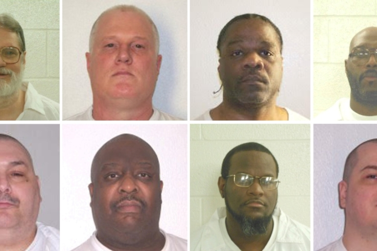 Four of the eight inmates have received stays [Arkansas Department of Corrections/Handout via Reuters]
