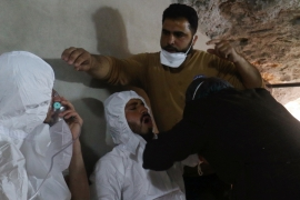 At least 20 children were killed in the suspected chemical attack in Idlib's Khan Sheikhoun [Reuters]