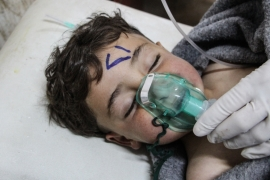 Syria gas attack: 'We found bodies all over the floor'