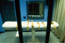 A lethal injection death chamber in a prison in Huntsville, Texas [David J Sams/Getty Images]